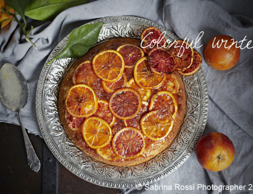 Blood Oranges Upside-down Cake
